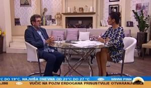 Tv Pink, 29.10.2018, Emisija Svitanje – gost Savo Štrbac Foto: Screenshot