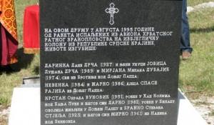 Mermerne ploče na spomeniku na Petrovačkoj cesti, Bravsko, postavljene su 2010. godine Foto: DIC Veritas
