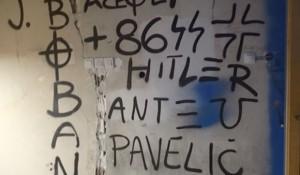 Grafiti u slavu Pavelića i Hitlera, Foto Zagrebačka policija, Vecernje novosti