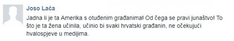 Komentar na FB strani Irene Ivić Foto: Screenshot