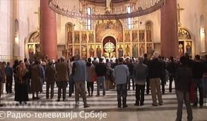 Patastos u cerkvi Svetog Marka za Srbe pobijene o hrvatskoj operaciji Maslenica Foto: RTS