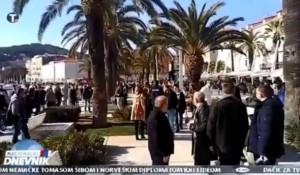 Tv Pink, 11.02.2019, Nacionalni dnevnik: Šta se sve dogodilo vaterpolistima CZ u Splitu