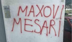 """Split: Ustaški grafit """"Maksovi mesari"""", februar 2019. Foto: Zoran Radman, FB"""