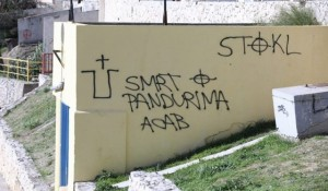 Split: Ustaški grafiti na obdaništu Foto: Index.hr