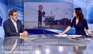 RTS, 05.03.2019, Štrbac o slučaju Pupovac: Teško je razlučiti šta je satira, a šta mržnja Foto: screenshot