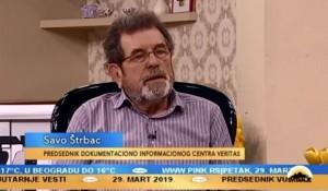 Svitanje: Savo Štrbac o Jasenovcu, Blajburgu i hrvatskom revizionizmu. 29.03.2019. Foto: screenshot