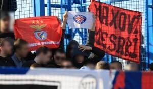 24sata.hr, 03.03.2019, Torcida opet izvjesila sramotni transparent 'Maksovi mesari'! Foto: 24sata.hr / Marko Prpić/PIXSELL