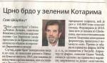 Политика, 20.05.2019, Саво Штрбац: Црно брдо у зеленим Котарима