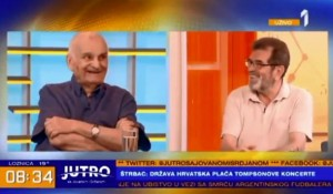 Hrvatska krajem godine bira predsednika, Savo Štrbac i Pero Zlatar, TV Prva, 20.6.2019. Foto: screenshot