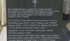 Janjile Bravsko, spomenik srpskim žrtvama ubijenim u hrvatskoj agresiji na Republiku Srpsku u operaciji progona Srba iz Krajine Foto: scrshot