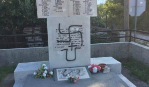 Srbi.hr, 06.08.2019, Ustaško-nacistički grafiti osvanuli u Polači treći put ove godine Foto: Srbi.hr