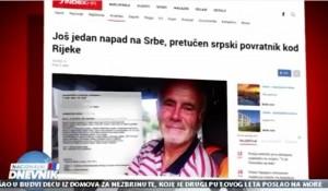 Savo Štrbac o novim napadima na Srbe u Dalmatinskom Kosovu i Rijeci, 23.8.2019. Foto: Screenshot