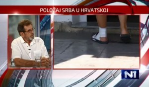 Dan uživo: Boris Milošević SNV i Savo Štrbac DIC Veritas o napadima na Srbe u Dalmatinskom Kosovu Foto: N1 Bograd screenshot