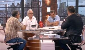 Pink.tv: Štrbac, Novaković, Pavić, Damnjanović 3.8.2019. Foto: screenshot