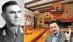 Detalj sa fotogafijom Pavelića u vili ministra Kušćevića Foto: Jutarnji list