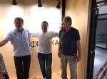 """Savo Štrbac, Darko Stevanović i Vojin Pejić, susret sa domaćinima, Cirih, """"Freska"""", 15.9.2019. Foto: DIC Veritas"""