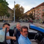 Savo Štrbac u Cirihu sa domačinima Vojinom Pejićem i Darkom Stevanovićem, 15.9.2019. Foto: DIC Veritas