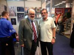 Sajam knjiga 2019: Predsednik SANU akademik Vladmir Kostić i Savo Štrbac, presednik DC Veritas Foto: DIC Veritas