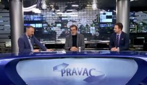 Pravac: Savo Štrbac i Mišel Zubenica o prvom krugu izbora za predsednika Hrvatske, Pravac, 23.12.2019. Foto: Pink.tv screenshot