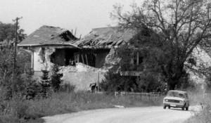 Ratna razaranja na području Osijeka, Paulin Dvor Foro: Politika, L. Adrović