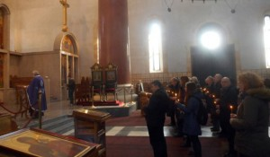 Crkva Svetog Marka, Beograd: Parastos za 348 Srba stradalih u Ravnim Kotarina 1993. Foto: RTRS, Srna