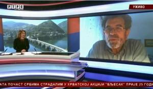 """Savo Štrbac za """"Srpska danas"""" o hrvatskom (ne)suočavanju sa prošlošću, 1.5.2020. Foto:RTRS, screenshot"""