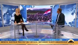 Savo Štrbac o misi za Blajburg i drugim zbivanjima koja su odjeknula Balkanom, 18.5.2020. Foto: Pink.tv, screenshot