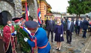 Gradiška: Vijenci za stradale Srbe u op. Bljesak, 1.5.2020. Foto: Glas Srpske