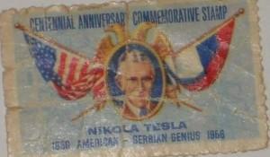 Prigodna poštanska marka Sto godina srpsko-američkog naućnika Nikole Tesle (1956) Foto: Twitter