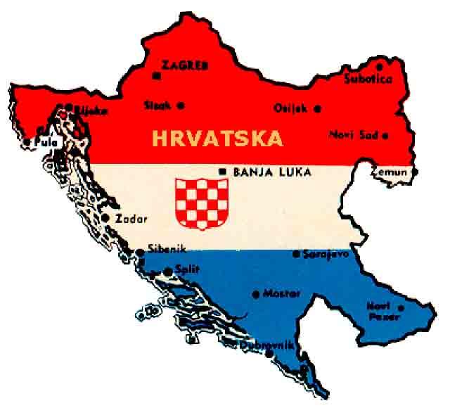 Mapa NDH iz 1941. Foto: Arhiva, mkd.mk