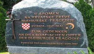 Blajburg: Spomenik hrvatskim i muslimanskim nacistima Foto: Arhiva
