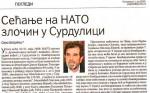 Политика, 01.06.2020, Саво Штрбац: Сећање на НАТО злочин у Сурдулици