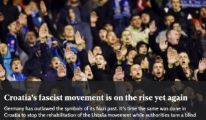 Menachem Z Rosensaft: Croatia's fascist movement is on the rise yet again Photo: Independent, screenshot