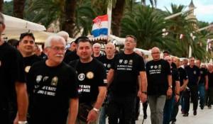 Split: Branitelji održali mimohod u Splitu, neki su nosili ustaška obilježja, 4.8.2020. Foto: Index.hr