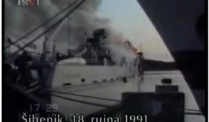 Gore brodovi u šibenskoj luci Foto: HRT, screenshot