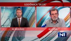 Savo Štrbac o 25. godišnjici progona Srba u Oluji, 4.8.2020. Foto: N1, Dan uživo, screenshot