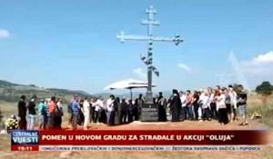 Pomen u Novom Gradu i Svodni za Srbe stradale u Oluji, 06.08.2020. Foto: ALTv, screenshot