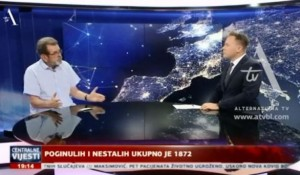"""Štrbac za ATV: U """"Oluji"""" ubijeno i nestalo 1.872 Srba, 8.8.2020. Foto: ATV, screenshot"""