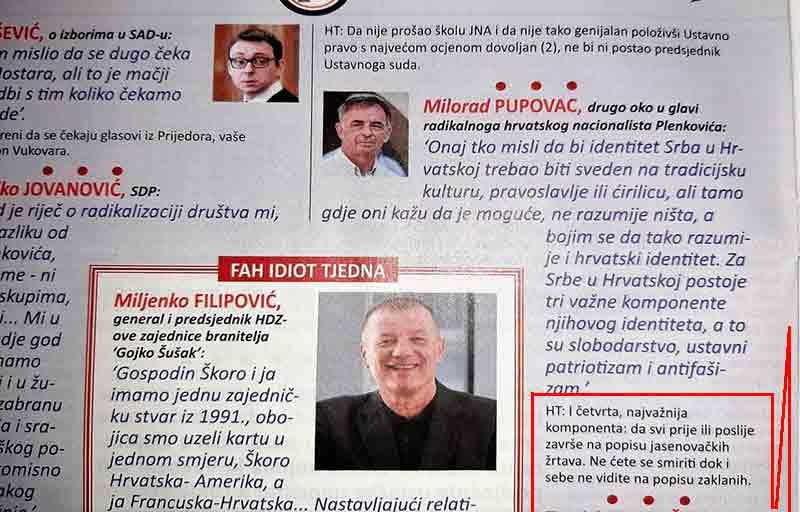 Hrvatski tjednik, komentar Foto: Novosti Portal