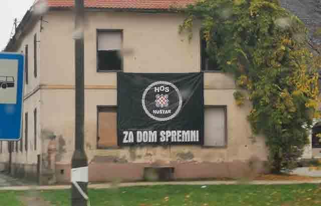 Nuštar: Ustaška znamenja u centru mesta Foto: Novosti plus
