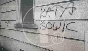 Hrvatski ustaški grafiti na srpskom konzulatu u Cirihu Foto: Tanjug, Ministarstvo inostrnih poslova