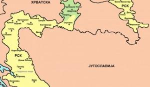 Mapa Republike Srpske Krajine Foto: Vikipedija