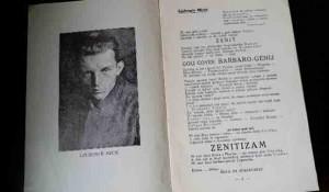 Manifest ZENITIZMA, 1921. Ljubomir Micić, Ivan Gol, Boško Tokin Foto: Kupindo