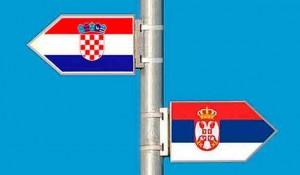 Zastave Srbije i Hrvatske, ilustracija Foto:Dan.co.me