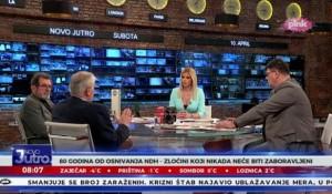 Savo Štrbac i prof. dr Miloje Pršić: 80 godina od formiranja NDH Foto: Pink, Novo jutro, screenshot