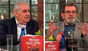 Novo jutro: prof. Miloje Pršić i Savo Štrbac, 4.5.2021. Foto: Pink.tv, screenshot