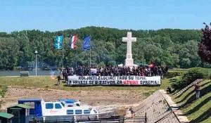 Vukovar: Novi povici Ubij Srbina, 9.5.2921. Foto: SNV