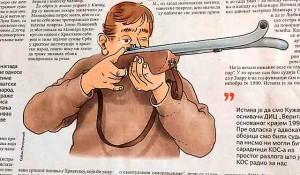 Savo Štrbac: Slučaj Mlinar, ilustracija Politika, 11.6.2021.