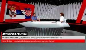 Savo Štrbac o hrvatskoj uceni da Srbija prizna genocid kako bi ušla u EU, 24.6.2021. Foto: screenshot