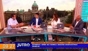 Savo Štrbac i Goran Petronijević o presudi Stanišiću i Simatoviću, 1.7.2021. Foto: TV Prva screenshot